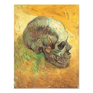 Skull, Vincent van Gogh, Vintage Impressionism Art 4.25x5.5 Paper Invitation Card