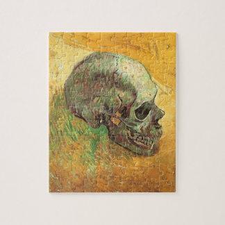 Skull, Vincent van Gogh, Vintage Impressionism Art Jigsaw Puzzles