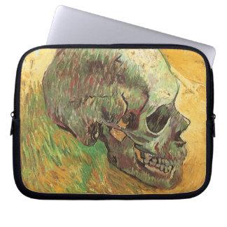 Skull, Vincent van Gogh, Vintage Impressionism Art Computer Sleeves