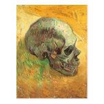 Skull, Vincent van Gogh, Vintage Impressionism Art Post Card
