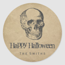 Skull vintage stickers