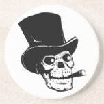 Skull w/ Top Hat Drink Coaster