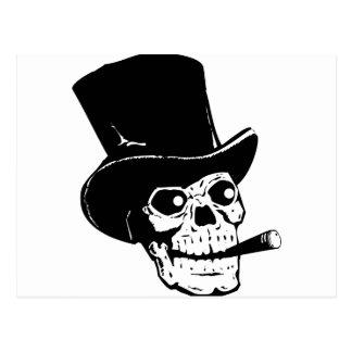 Skull w/ Top Hat Postcard
