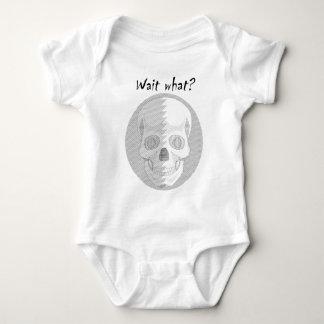 Skull Wait What Baby Bodysuit