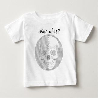 Skull Wait What Baby T-Shirt