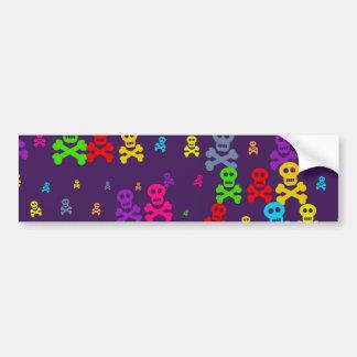 Skull Wallpaper Car Bumper Sticker
