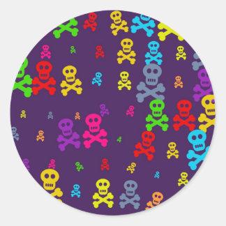 Skull Wallpaper Classic Round Sticker