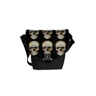 skull warpaint messenger bag
