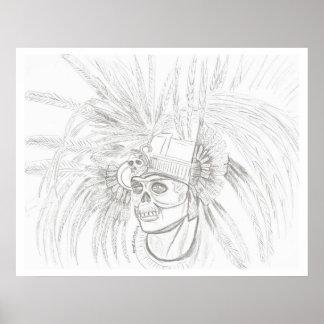 skull warrior poster