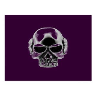 skull wear postcard