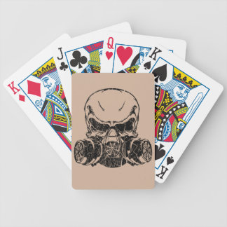 Skull Wearing Gas Mask Bicycle Playing Cards