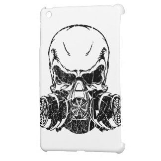 Skull Wearing Gas Mask Cover For The iPad Mini