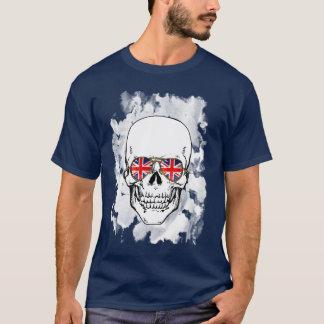 Skull wearing Union Jack Sunglasses T-Shirt