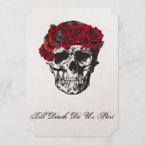 Skull Wedding Invitation - Till Death Do Us Part