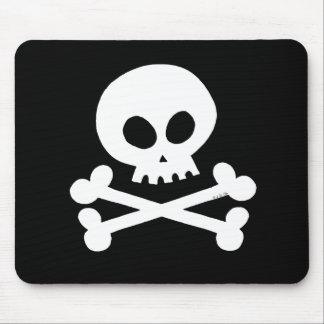 Skull (white) mouse pad