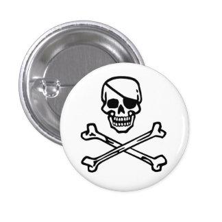 Skull (white) pinback button