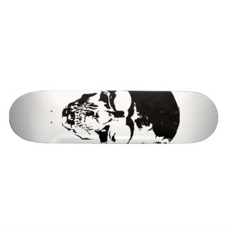 Skull White Skateboard Deck