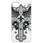 Skull Winged Cross iPhone 5 Cases