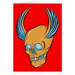 Skull ~ Wings Tattoo Skull Fantasy Art Greeting Card