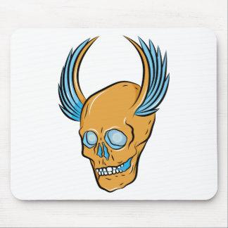Skull ~ Wings Tattoo Skull Fantasy Art Mousepad