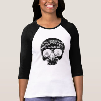 Skull witch board black Raglan T-Shirt