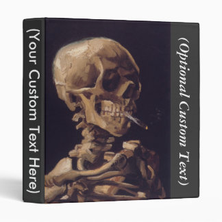 Skull with a Burning Cigarette 3 Ring Binder
