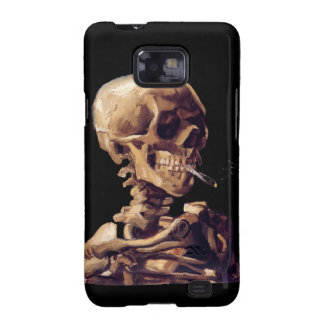 Skull with a burning cigarette by Van Gogh Samsung Galaxy SII Cover