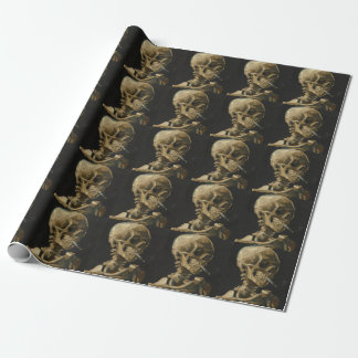 Skull with a Burning Cigarette by Van Gogh Wrapping Paper
