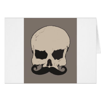 Skull with a Mustache Card