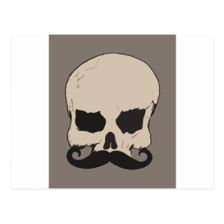 Skull with a Mustache Postcard