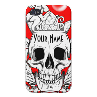 Skull with Angel - Customizable iPhone 4 Cases