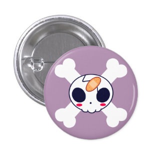 Skull with Bandage Pinback Button