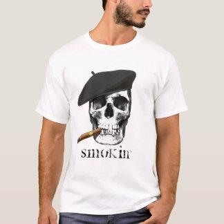 Skull with Beret and Cigar Smoking Smokin' shirt