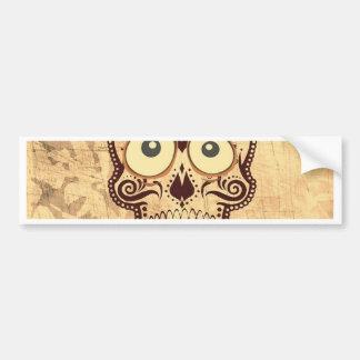 skull with big eyes car bumper sticker