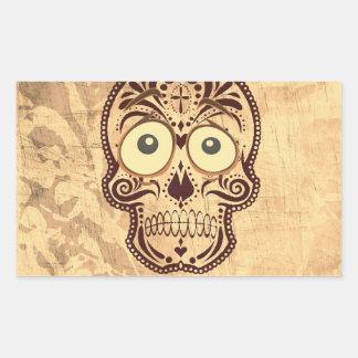 skull with big eyes rectangular sticker