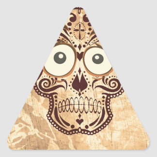 skull with big eyes triangle sticker