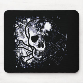 Skull with blood drops (B&W) Mouse Pad