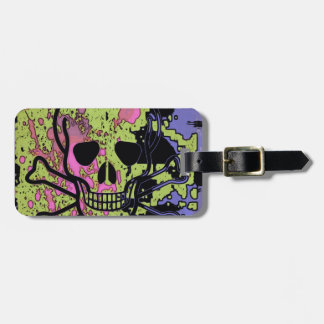 Skull with blood drops tag for luggage