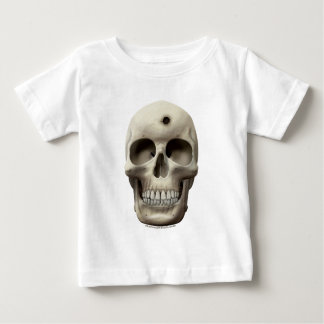Skull with Bullet Hole Baby T-Shirt