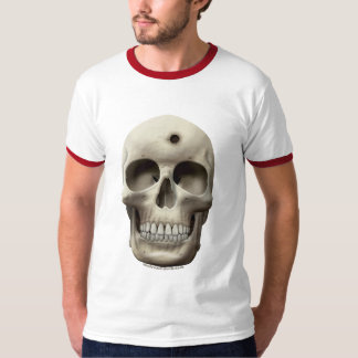 Skull with Bullet Hole T-Shirt