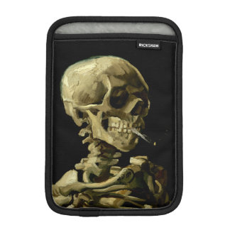 Skull with Burning Cigarette by Van Gogh Sleeve For iPad Mini
