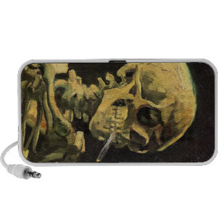 Skull with Burning Cigarette by Vincent van Gogh iPhone Speaker