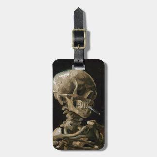 Skull with Burning Cigarette Vincent van Gogh Art Bag Tag