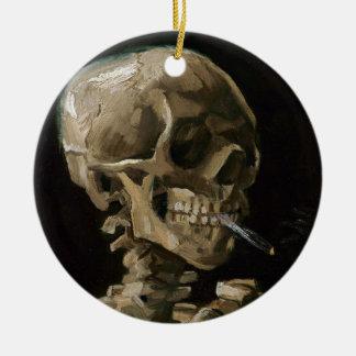 Skull with Burning Cigarette Vincent van Gogh Art Ceramic Ornament