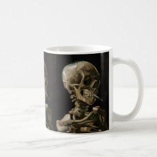Skull with Burning Cigarette Vincent van Gogh Art Coffee Mug