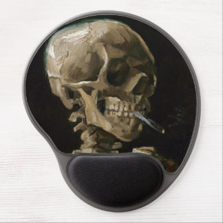 Skull with Burning Cigarette Vincent van Gogh Art Gel Mouse Pad