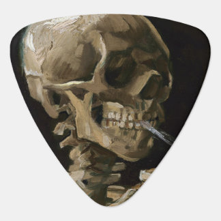 Skull with Burning Cigarette Vincent van Gogh Art Guitar Pick