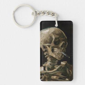 Skull with Burning Cigarette Vincent van Gogh Art Keychain