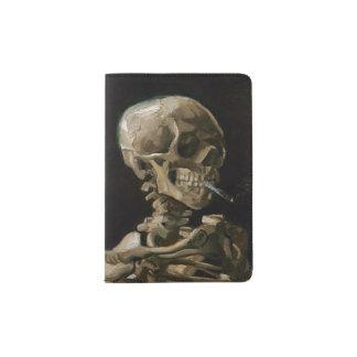 Skull with Burning Cigarette Vincent van Gogh Art Passport Holder