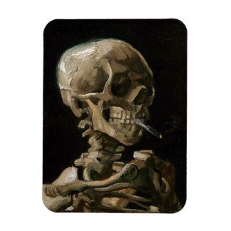 Skull with Burning Cigarette Vincent van Gogh Art Rectangular Photo Magnet